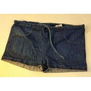 Vtg Jean Shorts Denim Dark Wash Blue Medium USA